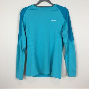 Marmot L/S turquoise layering top L